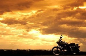 sunset motorcycle